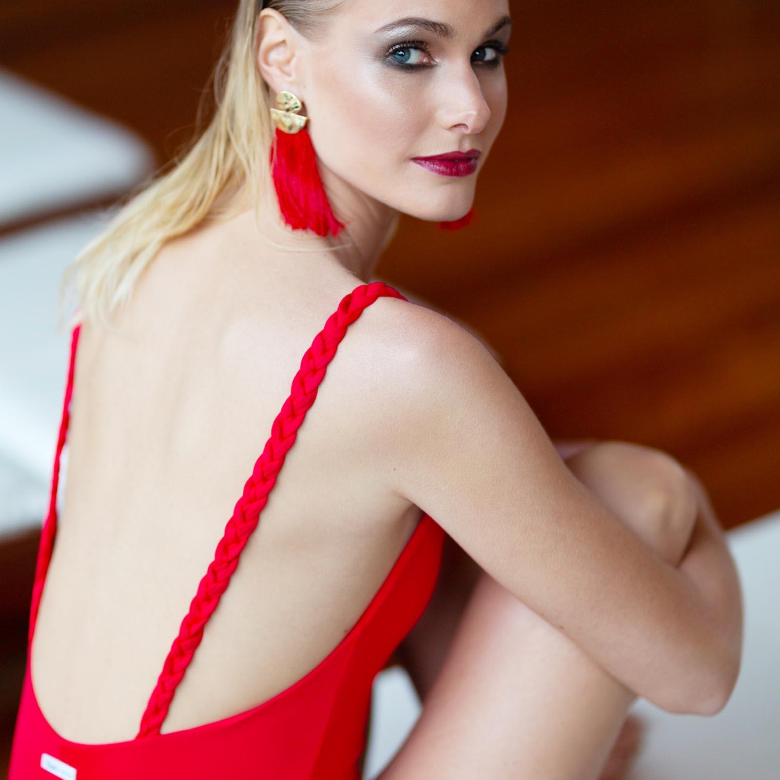 Kinda 3D Swimwear red vanilla one piece swuimsuit bathing suit costume rosso intero calzedonia tezenis la reveche