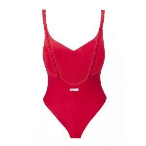 Red Vanilla onpiece one-piece swimsuit Kinda 3D swimwear bikini