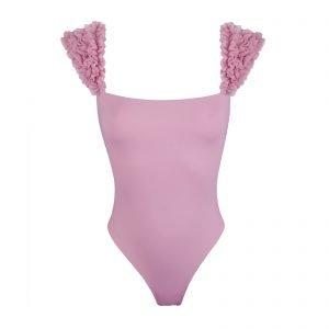 Grace Kinda 3D Swimwear swimsuit bikini with ruffles onepiece one piece bikini with flowers beach embellished bikini handmade bikini