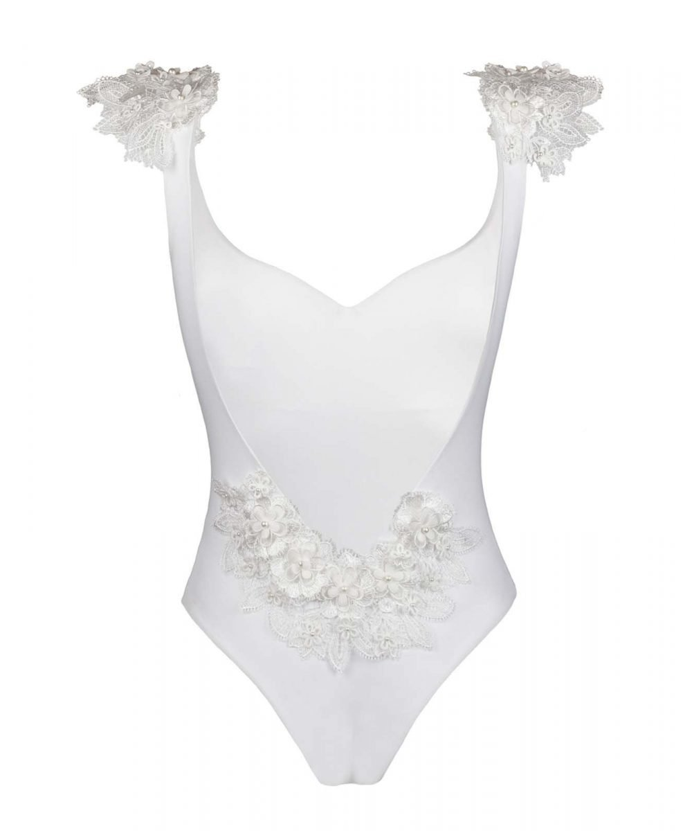 Kinda 3D Swimwear Reina white swimsuit bikini bianco con pizzo with lace_front