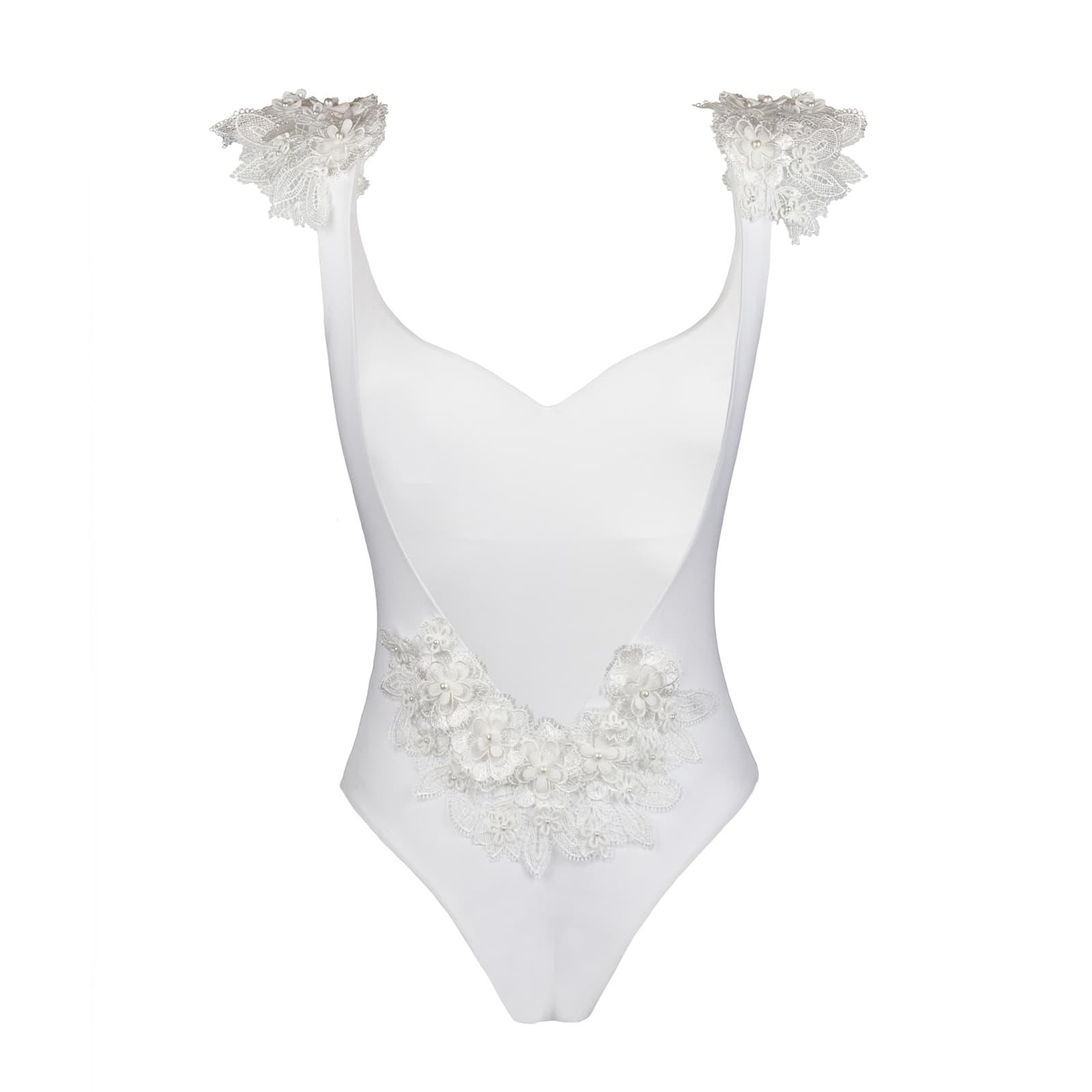 Reina white bikini swimsuit with lace costume bianco bikini bianco con pizzo hen's party costume da bagno intero addio al nubilato amiche damigelle pizzo sposa