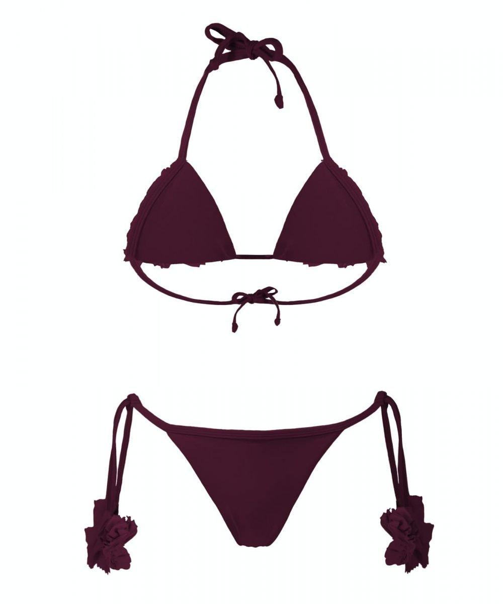 Kashmir bikini violet plum burgundy viola melanzana bordeaux kinda 3d swimwear