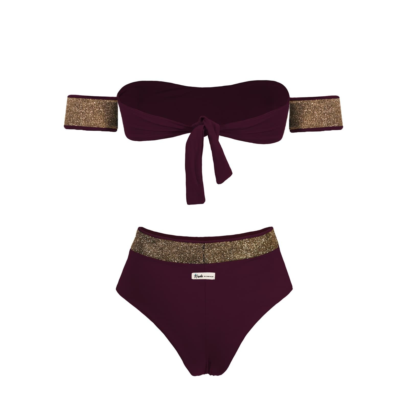 Rockeuse Kinda 3D Swimwear kindaswimwear bikini bordeaux plum swimsuit onepiece twopiece golden bikini oro color melanzana body calzedonia natale capodanno xmas limited edition edizione limita (1)