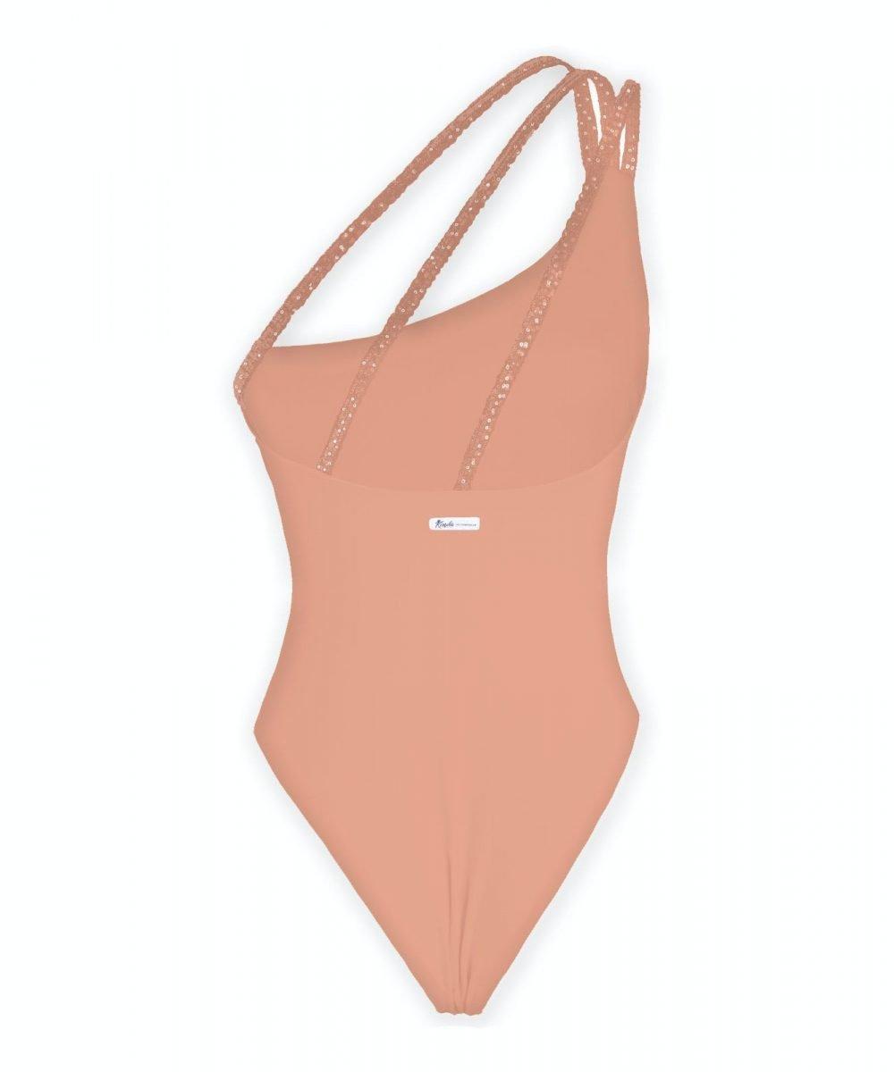 Kinda 3D Swimwear one piece salmon swimsuit costume intero monospalla elegante glamour costume da bagno arancione salmone pesca estate 2021 2021 summer 2020 2021 body color carne arancione nude bodysuit skims