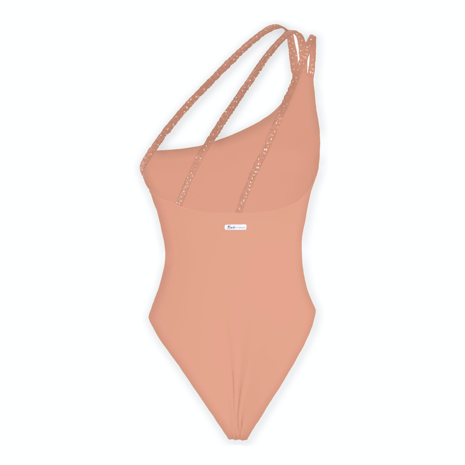 Kinda 3D Swimwear one piece salmon swimsuit costume intero monospalla elegante glamour costume da bagno arancione salmone pesca estate 2021 2021 summer 2020 2021 body color carne arancione nude bodysuit skims
