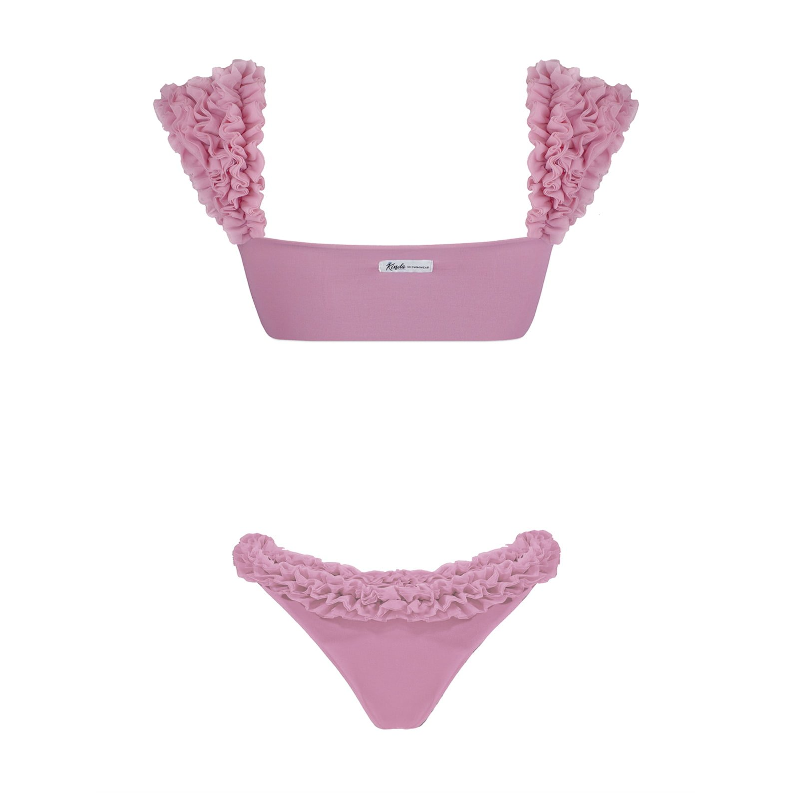 Scarlet pink two piece bikini kinda 3d swimwear pink swimsuit bikini rosa con tulle costume con fiori rosa costume tulle kinda 3d swimwear kindaswimwear costumi da bagno estate 2020 2021 pink bikini costume rosa