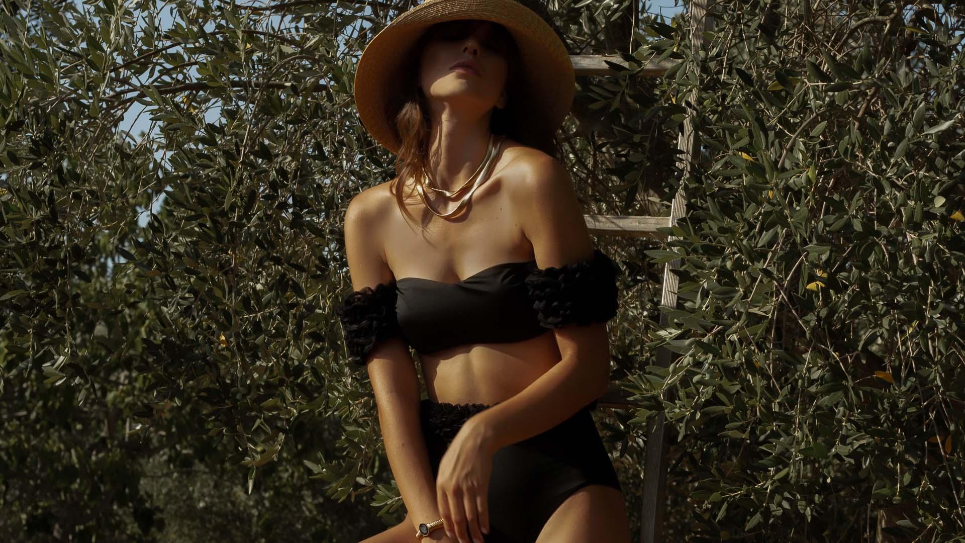 Diva Bikini a fascia nero