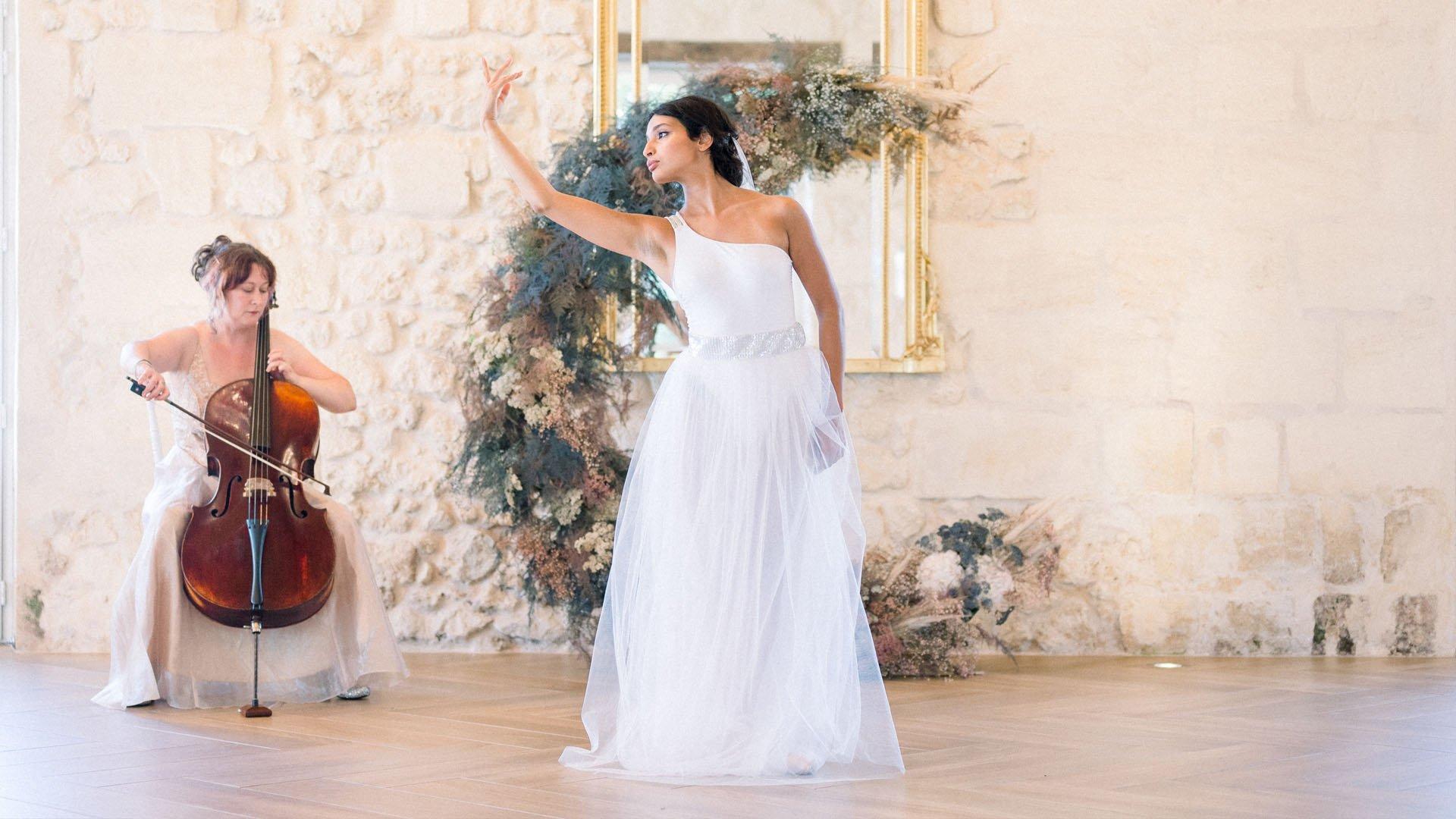 Danseuse white tulle skirt