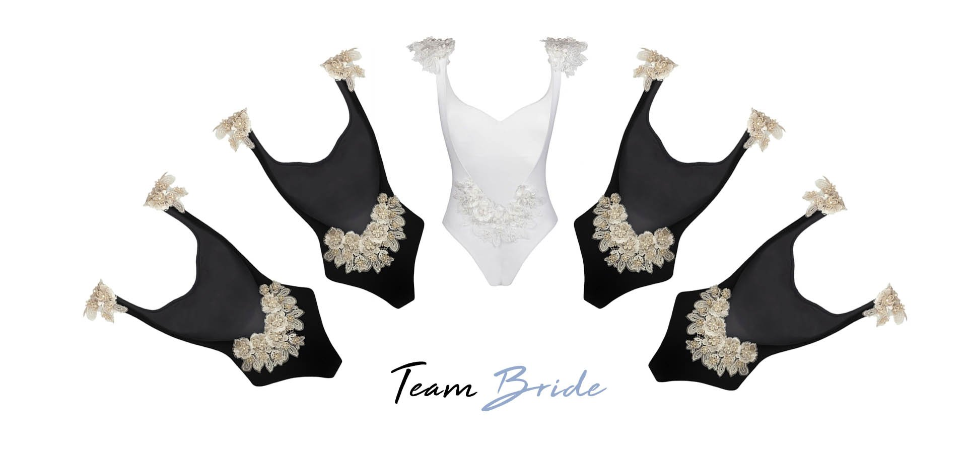 The perfect bachelorette party: a dream location and matching swimsuits for all the squad!